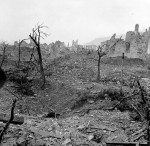 Ruins of the town of Cassino after the battle