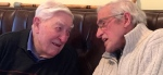 Chris in conversation with fellow 'old soldier' Bob L Kilgour
